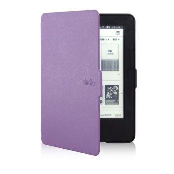 Калъф за електронна книга Kindle (2014), лилав, в пакет с протектор за екран и stylus pen image