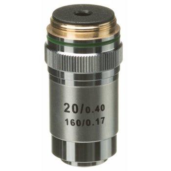 Обектив Bresser DIN, за микроскоп, 20x оптично увеличение, 23.2mm диаметър на лещата image