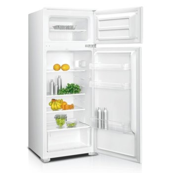 Хладилник с камера Crown DF-250BUILD, клас F, 207 л. общ обем, за вграждане, 230 kWh/годишно, саморазмразяване на хладилната част, бял image