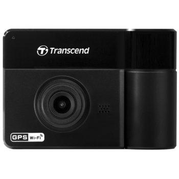 "Видеорегистратор Transcend DrivePro 550, камера за автомобил, FullHD, 2.4""(6.1cm) LCD дисплей, 64GB вградена памет, MicroSD слот до 128GB, Wi-Fi, черна image"