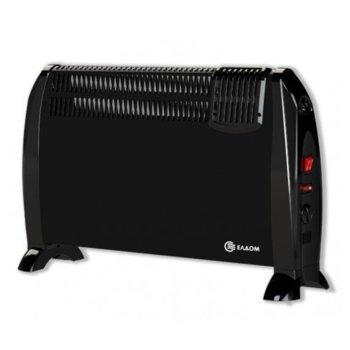 Конвектор Елдом CFV 2000, 2000W, oтопляема площ 15 - 22 м², 3 степени на мощност, прецизен терморегулатор, черен image
