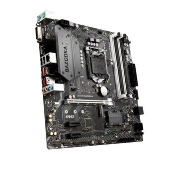 Дънна платка MSI B360M Bazooka, B360, LGA1151, DDR4, PCI-E(HDMI/DVI), 6x SATA3, 1 x USB 3.1 Gen 1 (Type-C), 1 x M.2 connector, Micro-ATX image