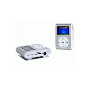 MP3 плеър Mini DF8007, със слушалки, кабел USB A(м) към USB miniB(м), microSD слот за карта памет, различни цветове image