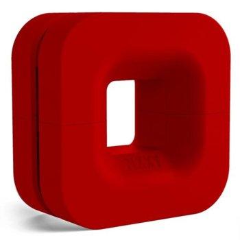 Поставка за слушалки NZXT Puck, магнит, издържа до 2 кг., червена image