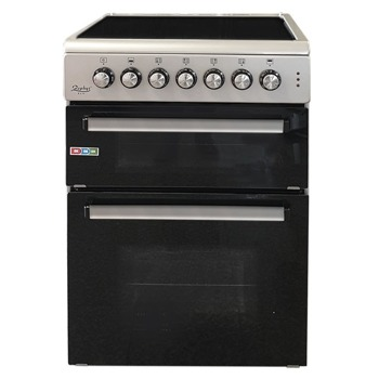 Електрическа печка с две фурни ZEPHYR ZP 1441 4GC60-2, 4 нагревателни зони, 58 / 28 л. обем на фурните, конвекция, сива image