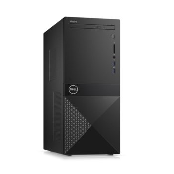 Настолен компютър Dell Vostro 3671 MT (N506BVD3671BTPEDB01_R2005_22NM), осемядрен Coffee Lake Intel Core i7-9700 3.0/4.7 GHz, NVIDIA GeForce GTX 1650 4GB, 8GB DDR4, 1TB HDD & 256GB SSD, 2x USB 3.1, клавиатура и мишка, Windows 10 Pro image