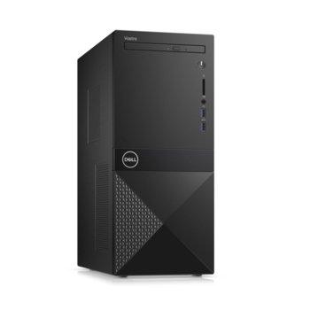 Настолен компютър Dell Vostro 3671 MT (N506BVD3671BTPEDB01_R2005_22NM), осемядрен Coffee Lake Intel Core i7-9700 3.0/4.7 GHz, NVIDIA GeForce GTX 1650 4GB, 8GB DDR4, 1TB HDD & 256GB SSD, 2x USB 3.1, клавиатура и мишка, Windows 10 Pro image