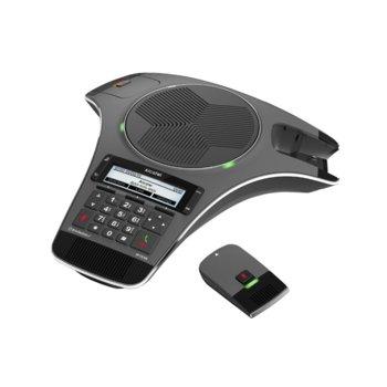 Конферентна станция Alcatel Conference IP1550, PoE, 158х57 LCD дисплей, DHCP, Bluetooth, 3x SIP акаунта, 1x 10/100 Mbps порт image