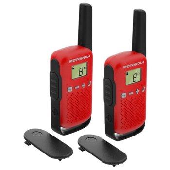 Радиостанции Motorola Talkabout T42 PMR, PMR446, 16 канала, до 4 km, лесно сдвояване, червени image