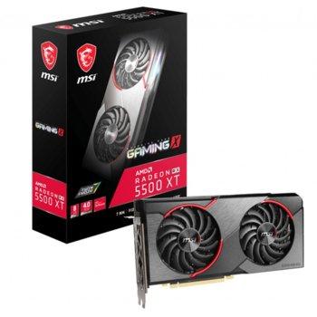 Видео карта AMD Radeon RX 5500 XT, 8GB, MSI Gaming X, PCI-E 4.0, GDDR6, 128bit, DisplayPort, HDMI, DP image