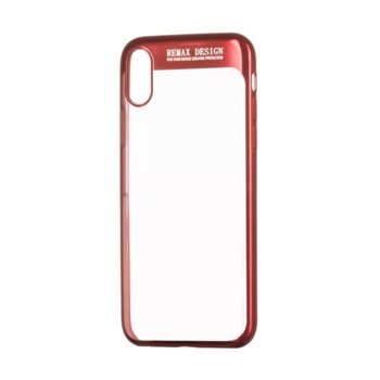 Калъф за iPhone X, протектор, термополиуретанов, Remax Modi, червен image