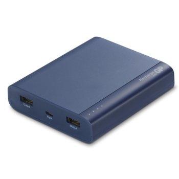 Външна батерия/power bank/ GP GP-PB-B10A, 10000mAh, синя, 2x 5V/2.1A image