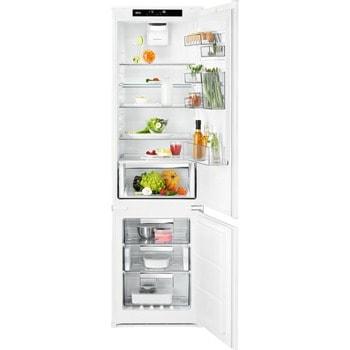 Хладилник с фризер AEG SCE819E5TS BI, клас E, 269 л. общ обем, за вграждане, 214 kWh/годишно, Fast freeze, Coolmatic, Frostmatic, бял image