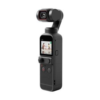 Екшън камера DJI OSMO Pocket 2, камера за екстремен спорт, 4K@60fps, 64MPx камера, до 140 мин. време за работа, с гимбал, 8x Slow motion, черен image