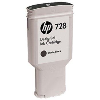 Мастило за HP DesignJet T730/T830 - Matte Black - 728 - P№ F9J68A, 300ml image