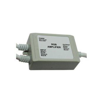LED усилвател ORAX LDA-1224-4A-3C-RGBW, 12-24V DC, 288W, 4A, триканален image