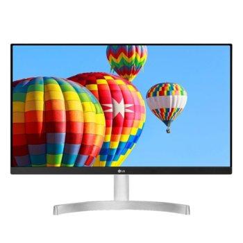 """Монитор LG 24MK600M-W, 23.8"""" (60.45 cm) IPS панел, Full HD, 5ms, 250cd/m2, 5 000 000:1, HDMI, VGA image"""
