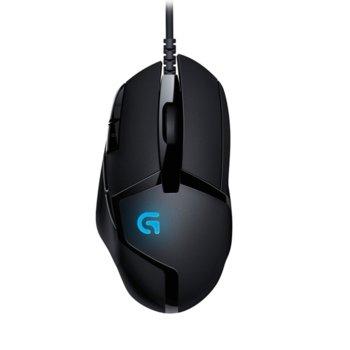 Мишка Logitech G402 Hyperion Fury, оптична (4000 dpi), USB, черна, гeйминг, LED подсветка image
