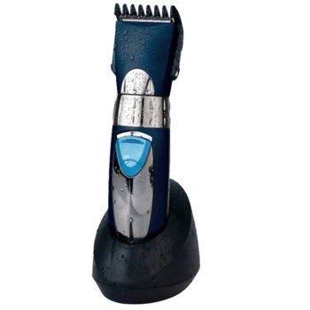 Машинка за подстригване Finlux FHC-6655BL, водоустойчива, стойка за зареждане, синя image
