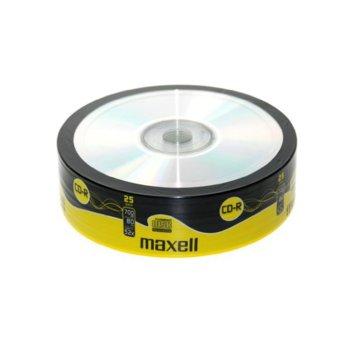 Оптичен носител CD-R media 700MB, Maxell, 25бр. image