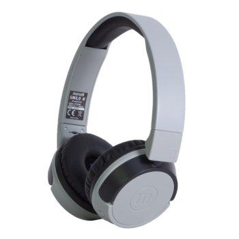 Слушалки Maxell BT400, безжични, микрофон, до 4 часа работа, сиви image