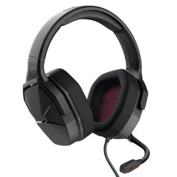 Слушалки Trust GXT 4371 Ward, микрофон, съвместими с PS4/XboxOne/Switch/Mobile/PC, 3.5mm жак, черни image