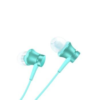 Слушалки Xiaomi Mi In-Ear Headphones Basic, микрофон, 3.5mm жак, сини image