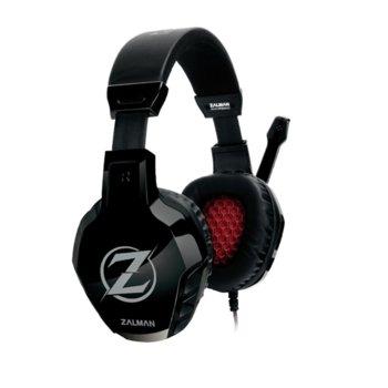 Слушалки Zalman ZM-HPS300, с микрофон, черни/червени, 3.5 mm Jack image