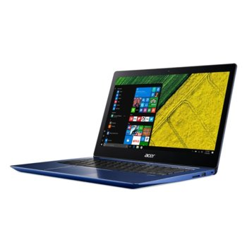 "Лаптоп Acer Swift 3 SF314-52-50SA (NX.GQJEX.006)(син), четириядрен Kaby Lake R Intel Core i5-8250U 1.6/3.4GHz, 14"" (35.56 cm) Full HD IPS Anti-Glare Display, (HDMI), 8GB DDR4, 256GB SSD, 2x USB 3.0, Windows 10 Home, 1.6kg image"