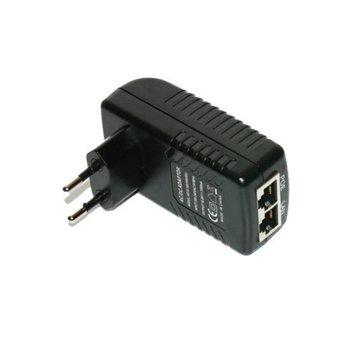 Захранващ PoE адаптер MikroTik, 18V/1A, 75%+ ефективност image