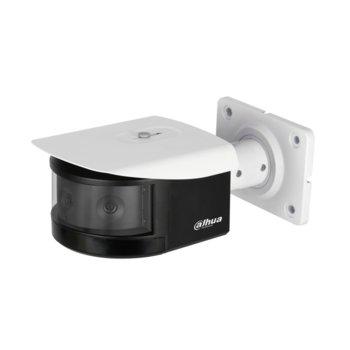 """IP камера Dahua IPC-PFW8601-A180, насочена """"bullet"""", 3x 2 Mpix(4096x832@25FPS),3.6mm обектив 180º(в панорамен изглед), H.265+/H.265/H.264+/H.264, външна вандалоустойчива IK10, IP67 защита от вода, PoE+, 1/1 channel In/Out, RJ-45, microSD слот image"""