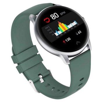 "Смарт часовник Xiaomi Imilab KW66, 44mm, 1.28"" (3.25 cm) IPS дисплей, IP68 водоустойчив, до 15 дни издръжливост на батерията, зелен image"