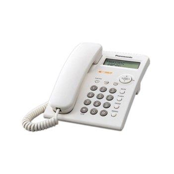 Стационарен телефон Panasonic KX-TSC11, LCD черно-бял дисплей, бял image