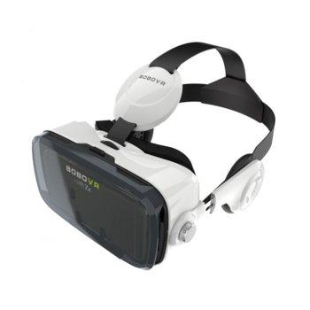 """Очила за виртуална реалност BOBOVR Z4, 120° зрителен ъгъл, вградени слушалки, бутон за разговори, съвместими със смартфони с диагонал от 4.7"""" до 6.0"""", бели image"""