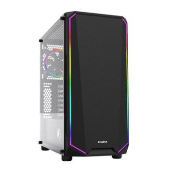 Кутия Zalman K1 Rev.B, ATX/mATX/Mini-ITX, 2x USB 3.0, 2x USB 2.0, черна, без захранване image