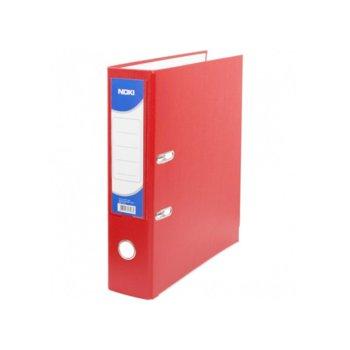 Класьор Noki, за документи с формат до А4, дебелина 8см, с метален кант, червен image