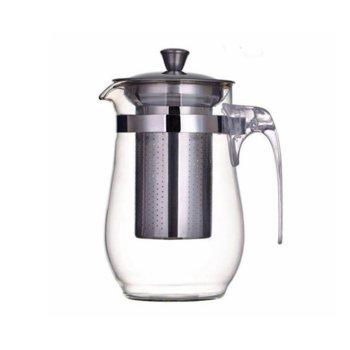 Стъклен чайник с цедка OEM 2629-19, 600 ml, Стомана/стъкло image