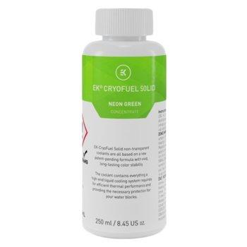Течност за водно охлаждане Ekwb EK-CryoFuel Solid Neon Green, 250ml, зелена image