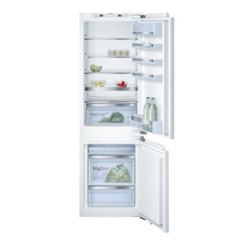 Хладилник с фризер Bosch KIS 86 AF 30, клас А++, 268 л. общ обем, за вграждане, 219 kWh/годишно, Touchcontrol, freshSense, Low Frost, бял image