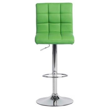 Бар стол Carmen 3063, еко кожа, хромирана база, газов амортисьор, коригиране на височина, зелен image