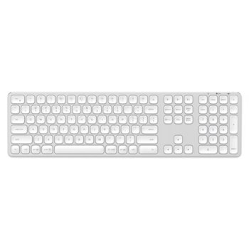 Клавиатура Satechi Aluminum Wireless Keyboard, безжична, Bluetooth, за Apple устройства, бяла image