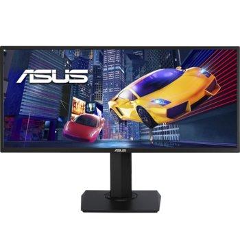 """Монитор Asus VP348QGL Gaming, 34"""" (86.36 cm) VA панел, 75 Hz, UWQHD, 4ms, 350 cd/m2, DisplayPort, HDMI, 3.5mm jack image"""
