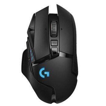 Мишка Logitech G502 LIGHTSPEED, оптична (16000 dpi), безжична, USB, черна image