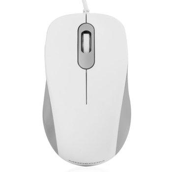 Мишка Modecom MC-M10S, оптична (1000 dpi), USB, 1.5m кабел, бяла image