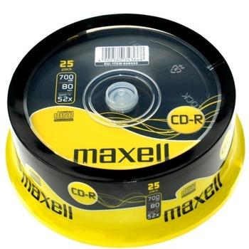 Оптичен носител CD-R media 700MB MAXELL Shrink, 52x, 25бр. image