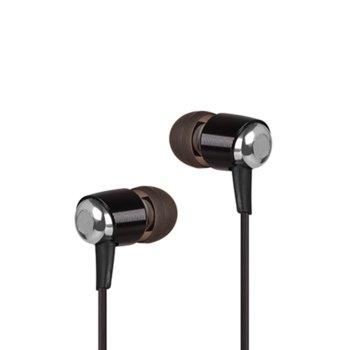 Слушалки A4Tech MK-750, микрофон, черни/кафяви image