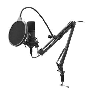 Микрофон White Shark ZONIS DSM-01, USB, регулируема стойка, 30Нz-16kНz, черен image