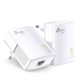 Powerline адаптер TP-Link TL-PA7017 KIT AV1000, 1000 Mbps, до 300м обхват, 1x 10/100/1000 Mbps Ethernet image