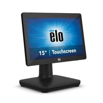 "All in One компютър Elo EPS15E5-2UWA-1-MT-8G-1S-W1-64-BK, шестядрен Intel Core i5-8500T 2.1/3.5 GHz, 15.6"" (39.624 cm) HD LED Capacitive Multi Touch Display, 8GB DDR4, 128GB SSD, USB-C, Windows 10 image"
