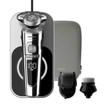 Самобръсначка Philips Series 9000 Prestige, за сухо и мокро бръснене, прецизни ножчета NanoTech, сензор BeardAdapt, до 60 мин. работа image